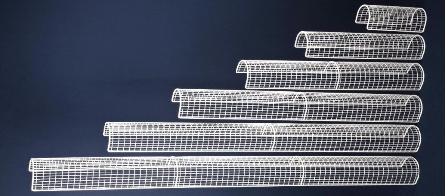 MS Guardio stocks wire mesh tubular heater guards from 1ft to 6ft in length.