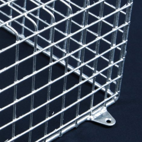 Aiano ELS/S small galvanised exit sign guard – detailed view