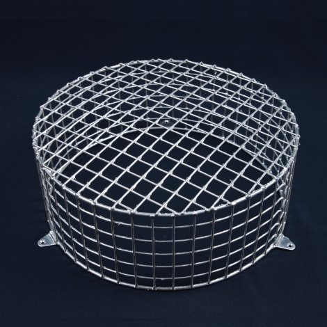 Aiano FLS/RMG large round galvanised bulkhead guard - wall mounted
