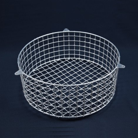 Aiano FLS/RMG large round galvanised bulkhead guard – back view