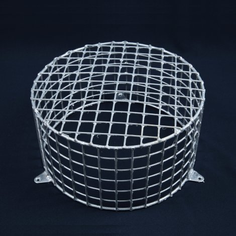 Aiano FLS/RSG small round galvanised bulkhead guard - wall mounted