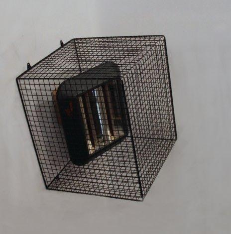 QXD3000-AIA-BLK quartz heater guard – guard on heater
