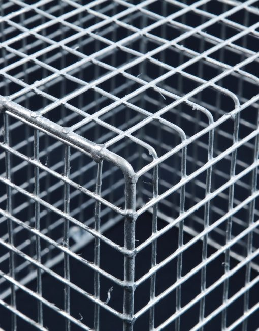 Aiano FLMICRO medium galvanised floodlight guard – detailed view