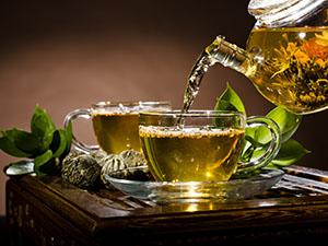 Enjoy a refresshing cup of green tea.